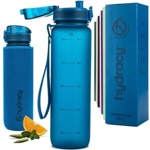 Hydracy Trinkflasche mit Infuser und Zeitmarkierung
