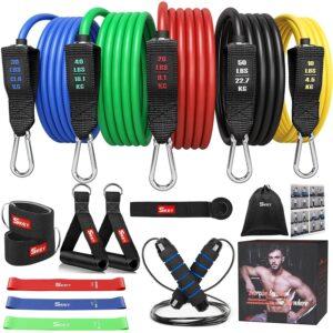 Resistance Bands 16-In-1 mit Fitnessbänder, 150 lbs