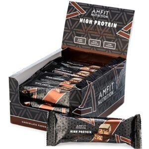 Amazon-Marke: Amfit Nutrition Proteinriegel mit niedrigem Zuckergehalt