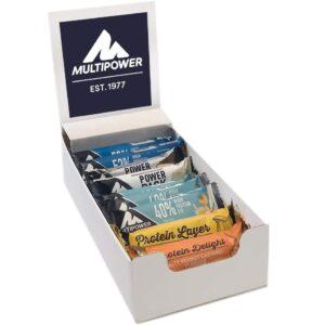 Multipower Protein Bar Mix Box – Gemischte Eiweißriegel Box