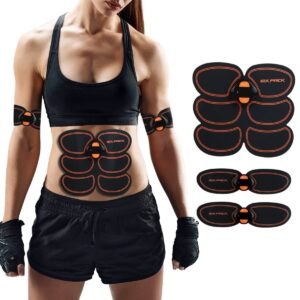 Muskelstimulator,Elektrische Muskelstimulation,Professionelle EMS-Training Muskeltrainer Elektrostimulation Muskelaufbau und Fettverbrennungen, die neue Gurtunterstützungsgurt Elektrostimulation für Herren Damen